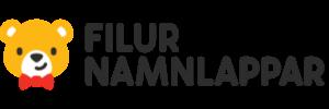 Filur Namnlappar logotyp babybutik på nätet med smarta namnlappar.