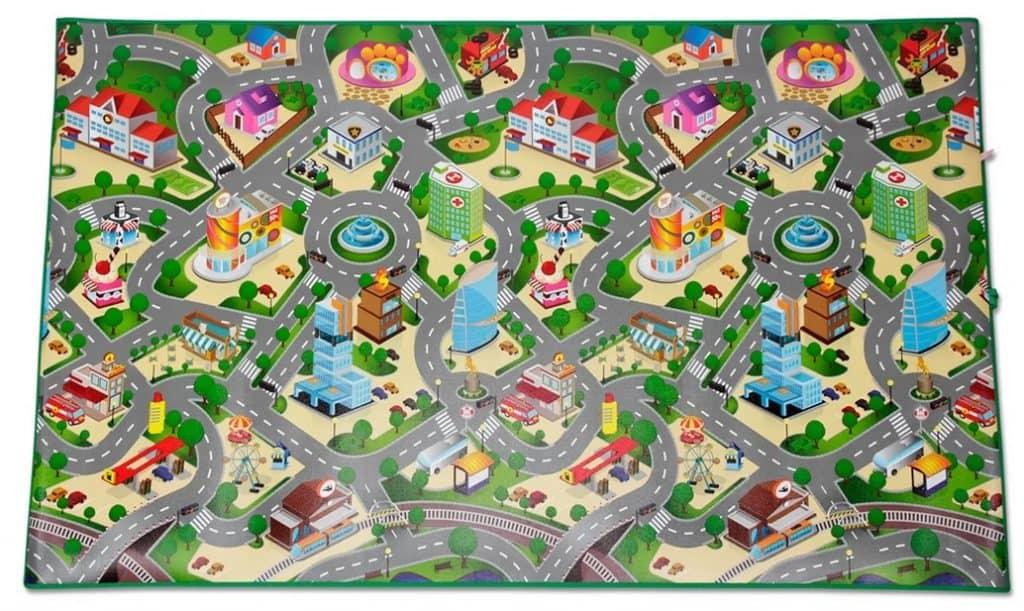 Cloudberry Castle lekmatta med motiv på en stad produktbild.