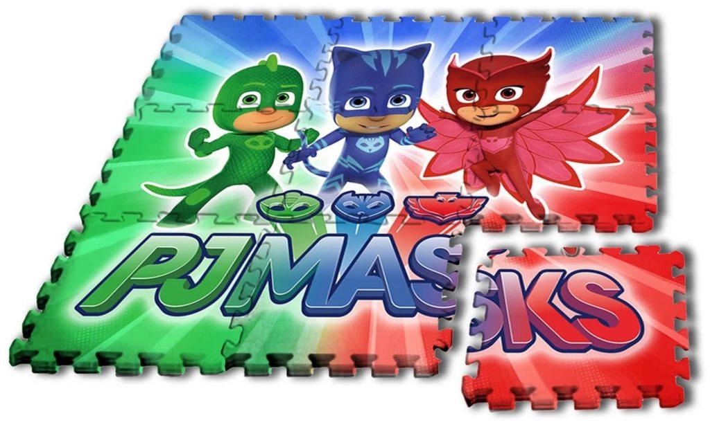 Lekmatta med bild på tv serien Pyjamashjältarna