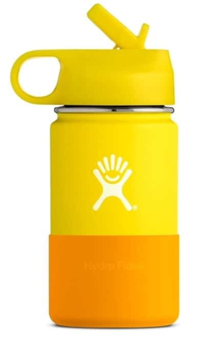 Hydro Flask Wide Mouth Kids Vattenflaska För Barn Gul och Orange